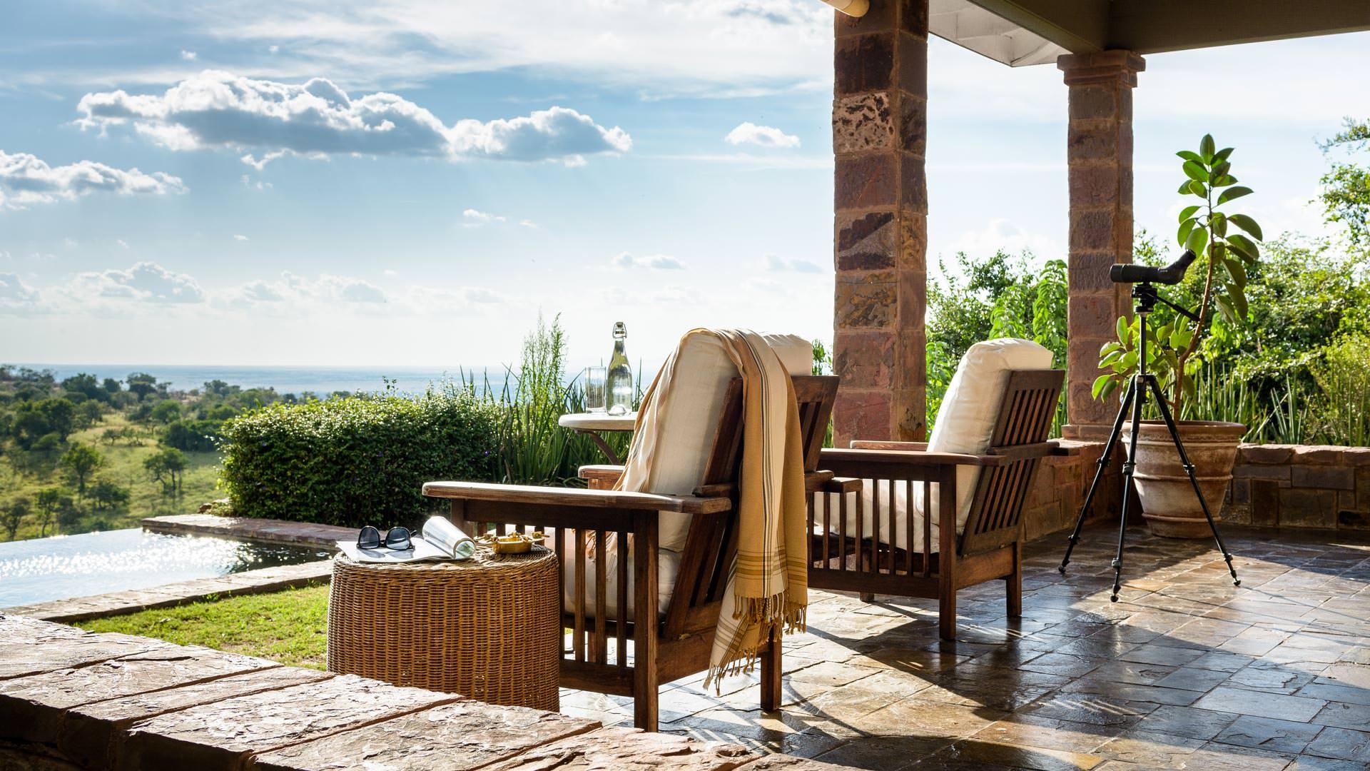 Private guest room porch at Sasakwa