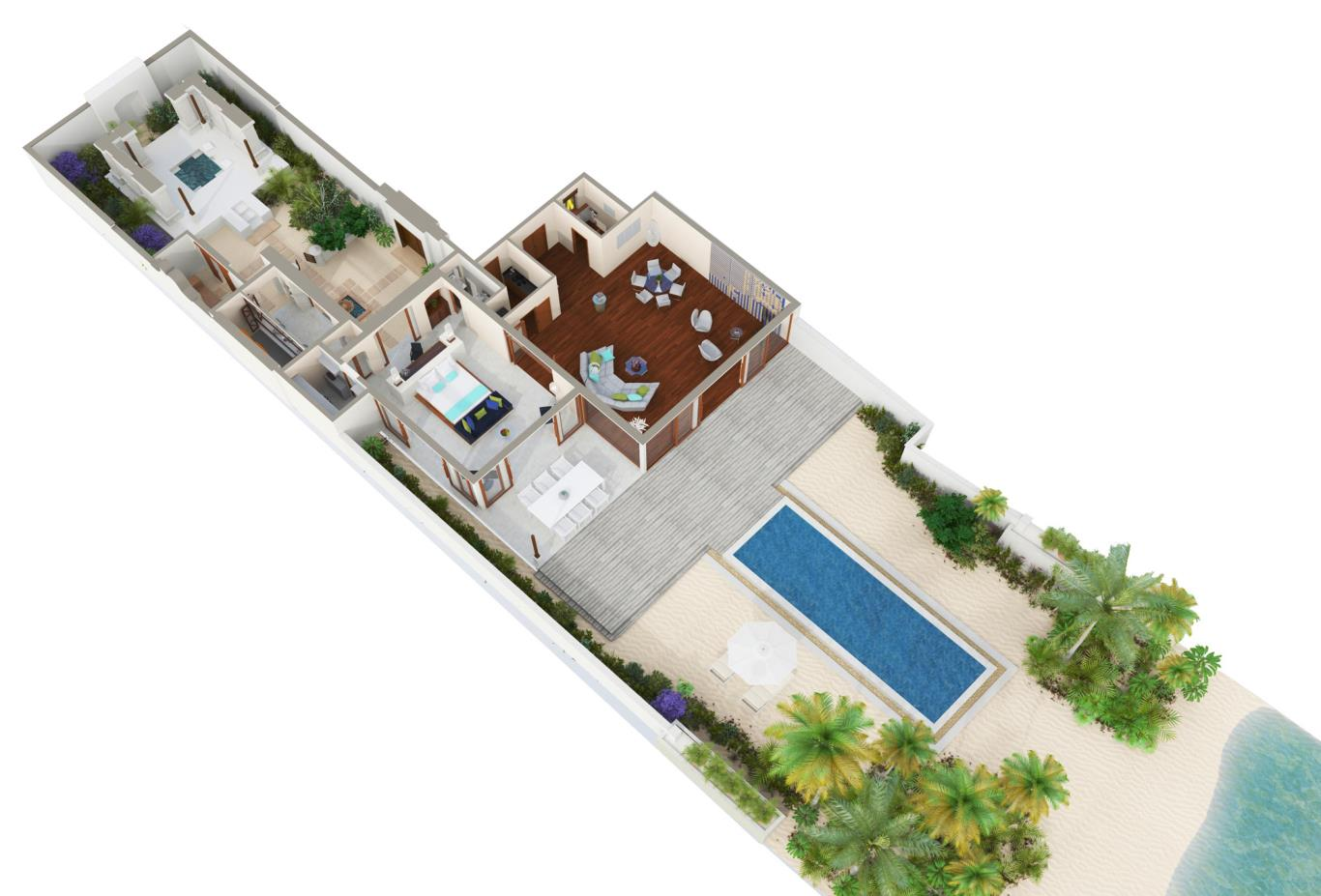 Junior Beach Front Floorplan