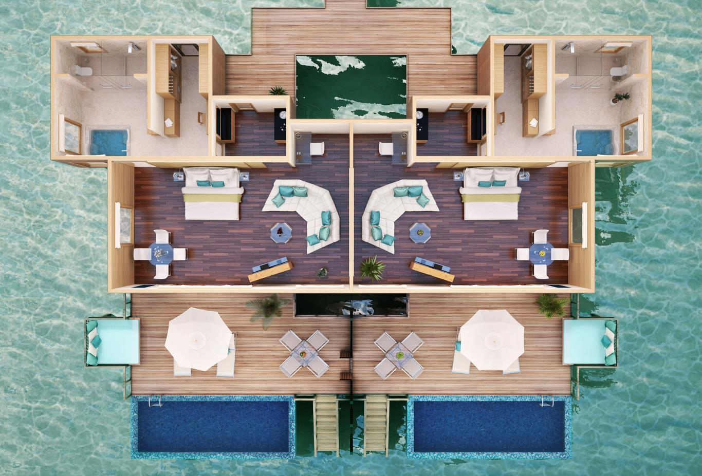 Premier Water Suite Floorplan