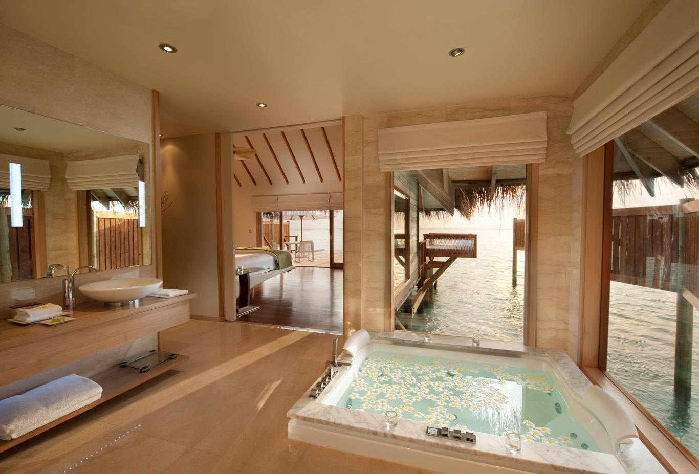 Premier Water Villa Bathroom