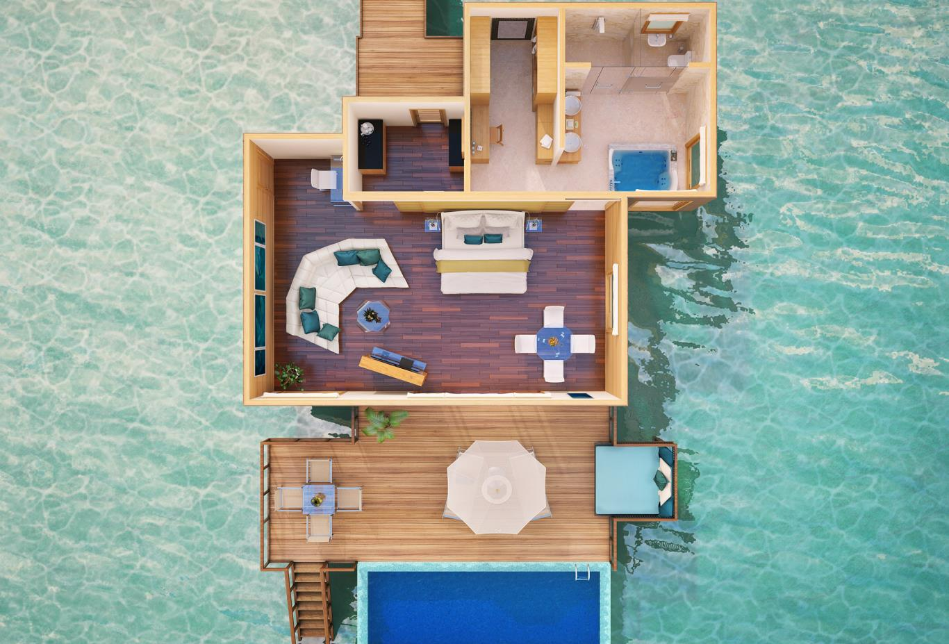 Premier Water Villa Floorplan
