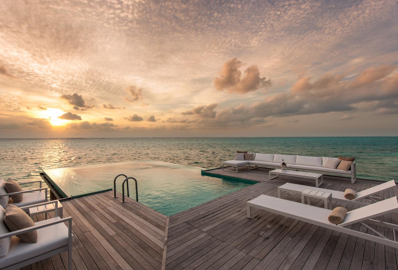 Sunset Water Villa Deck