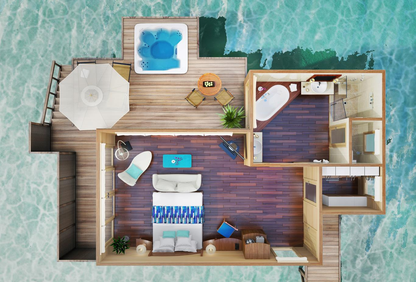 Superior Water Villa Floorplan