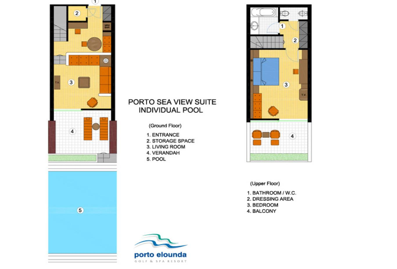 Porto Sea View Suite Individual Pool floorplan