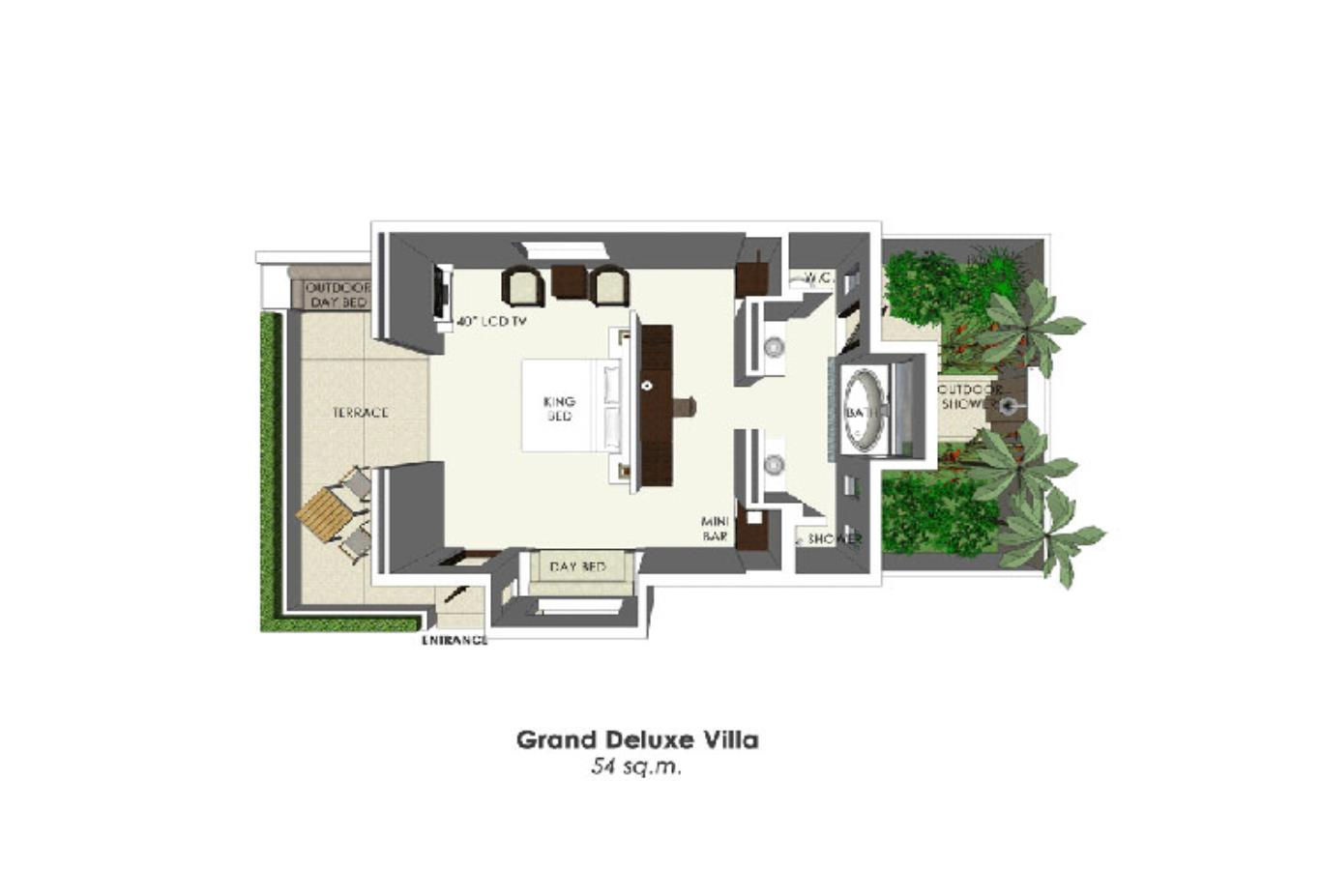 Grand Deluxe Villa floorplan