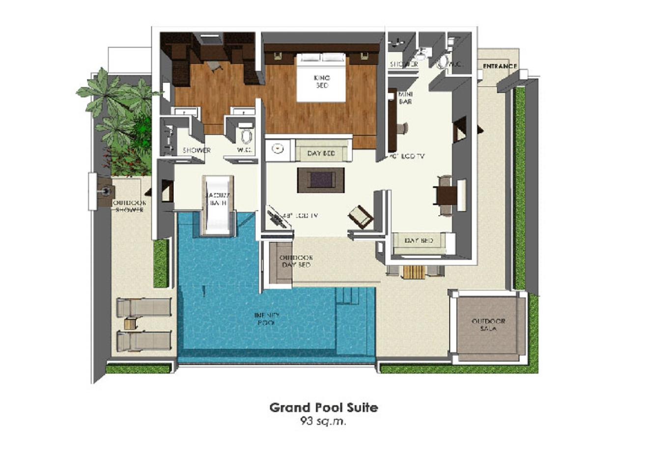 Grand Pool Suite floorplan