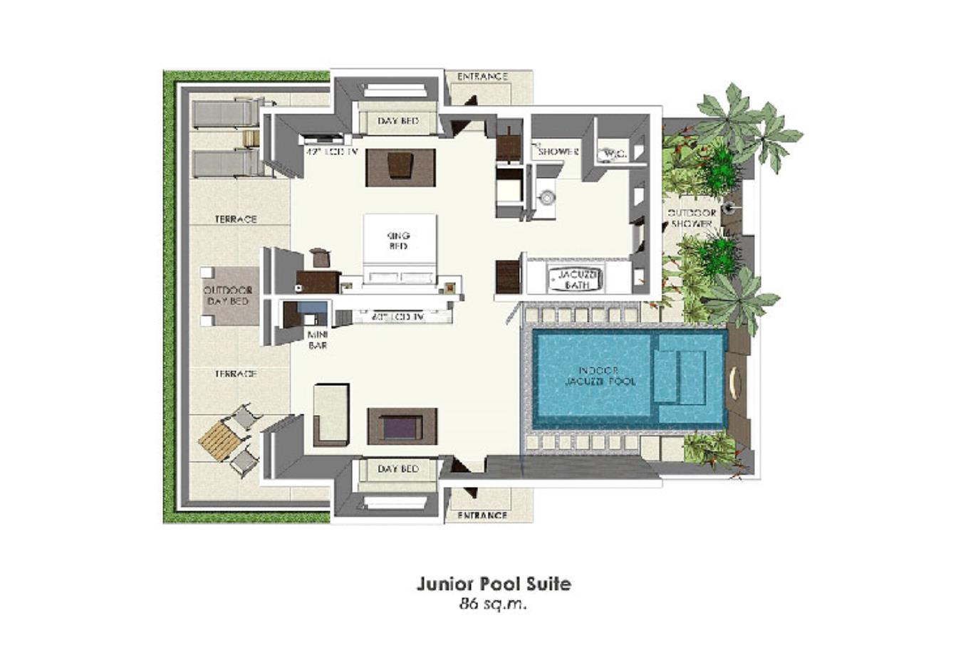 Junior Pool Suite floorplan