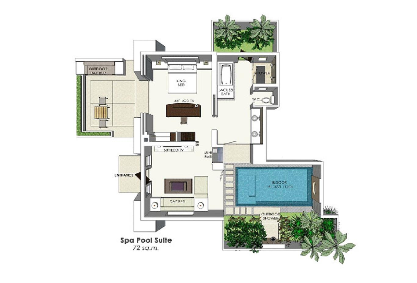 Spa Pool Suite floorplan