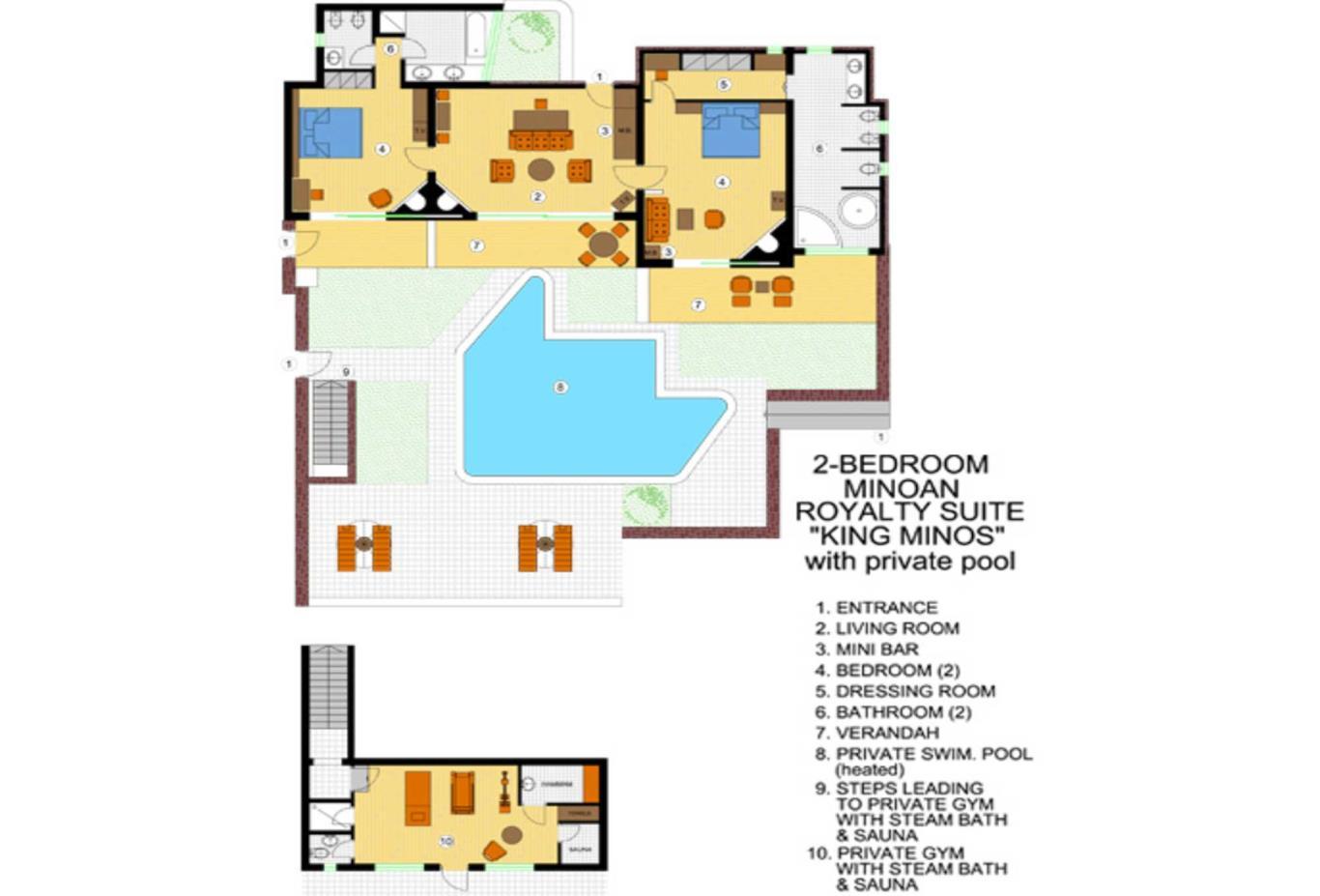 King Minos Suite floorplan