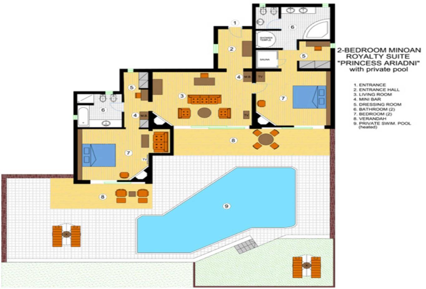 Two Bedroom Princess Ariadni Suite