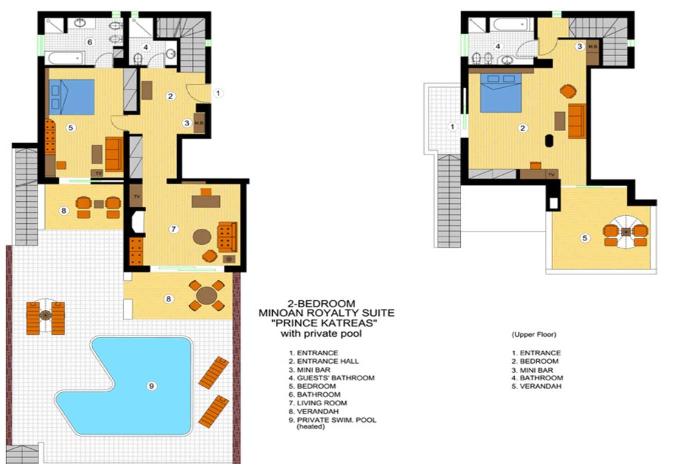Katreas Suite floorplan
