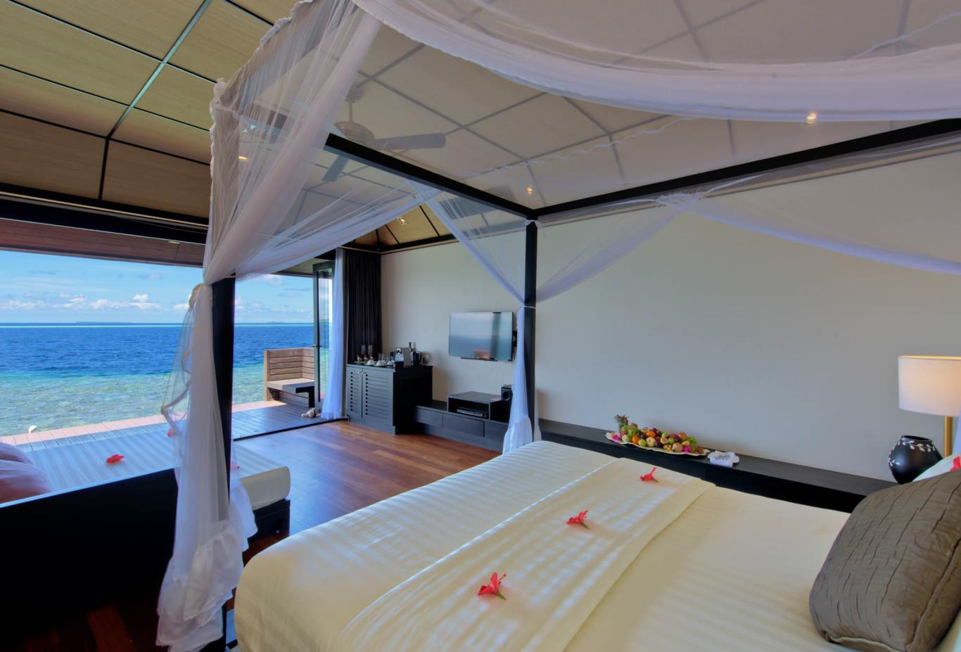 Deluxe Water Villa Bedroom