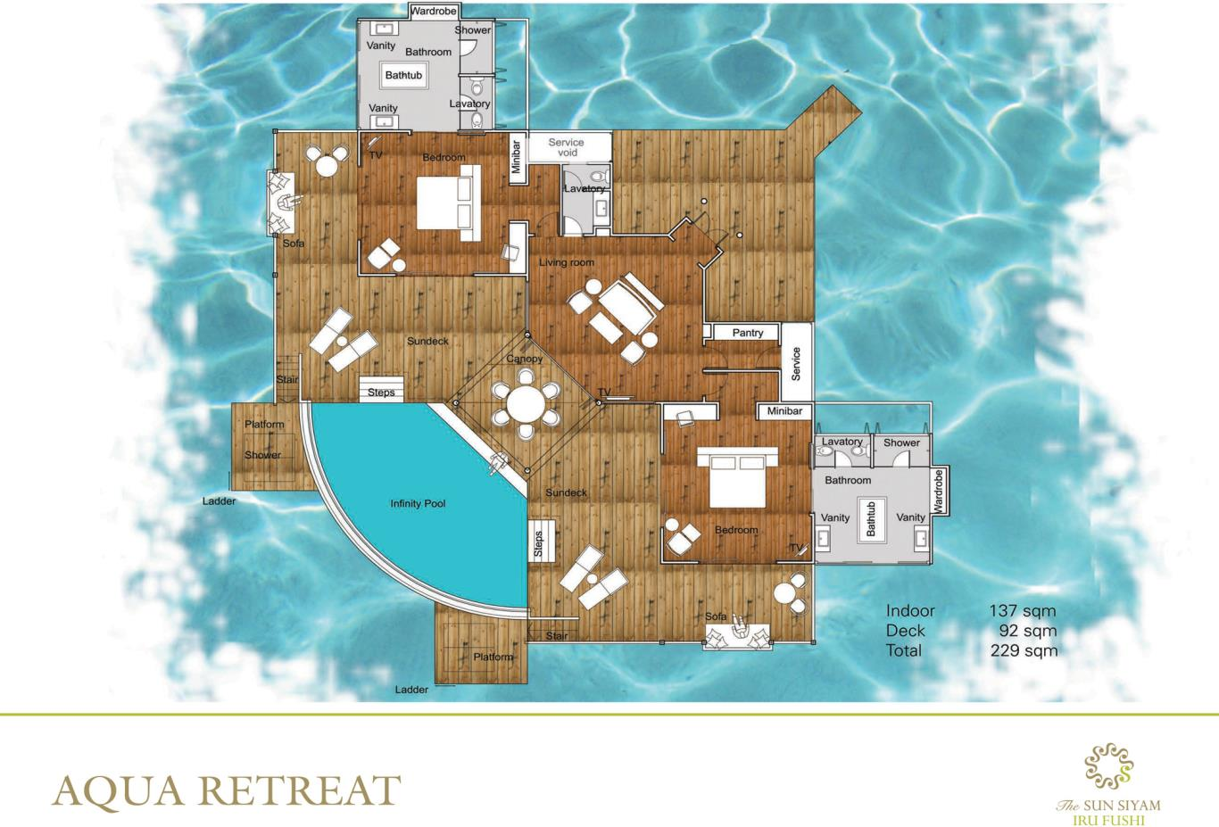 Aqua Retreat Floorplan