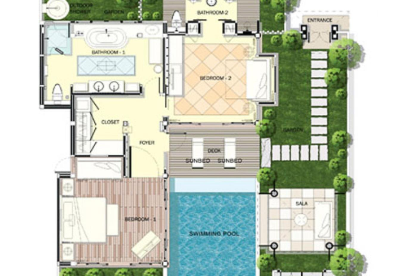 Floorplan Family Pool Villa
