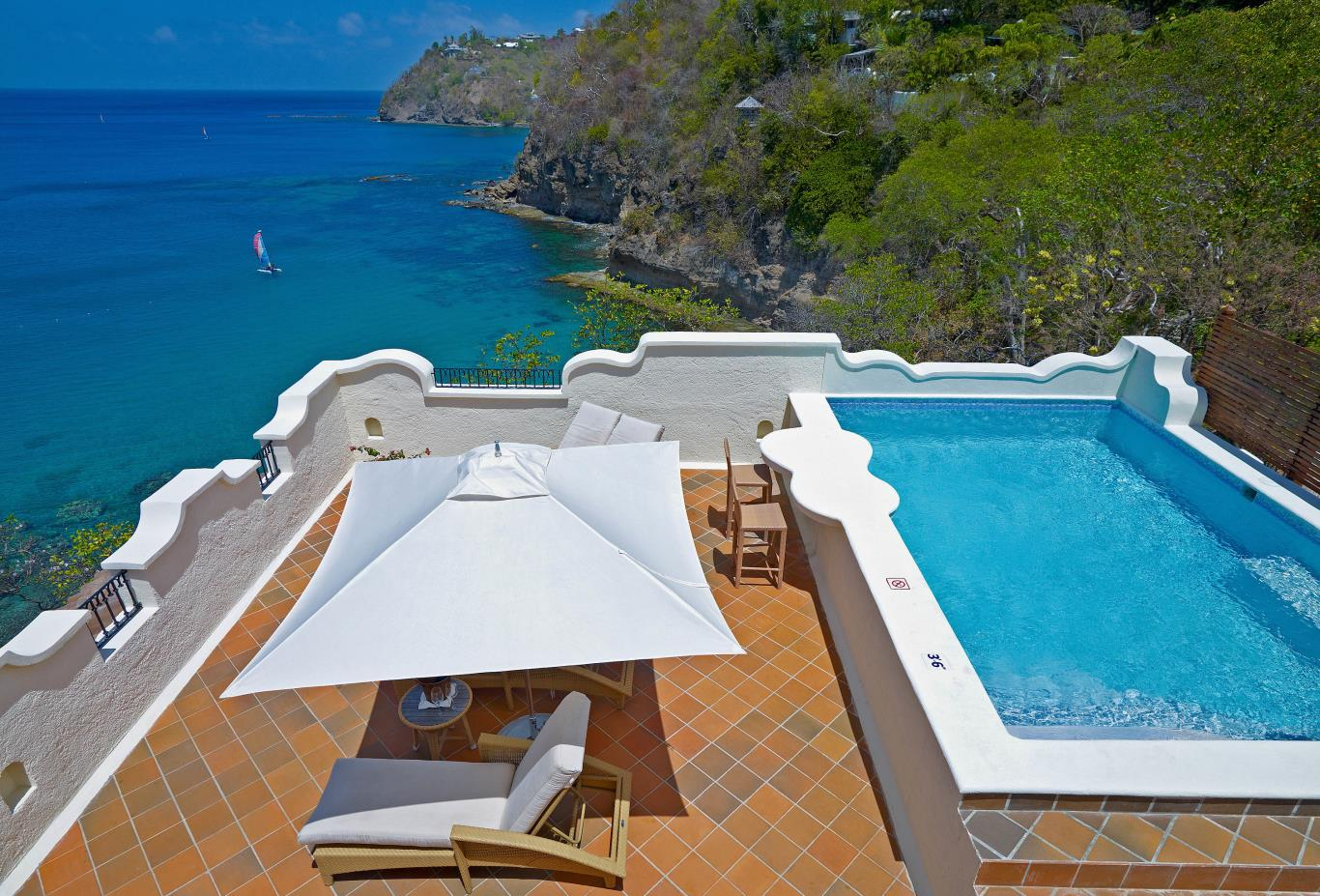 Ocean View Villa Suite with Pool and Roof Terrace