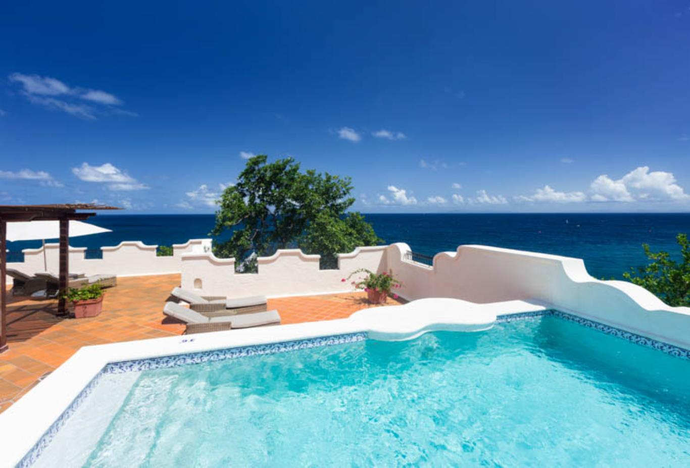 Ocean View Villa Suite with Pool and Terrace
