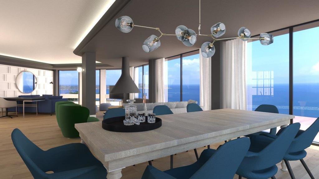 Four bedroom Royal Spa Pool Villa dining area