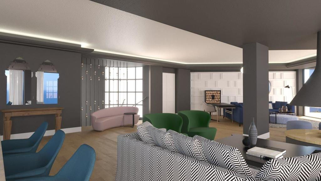 Four bedroom Royal Spa Pool Villa living room 2