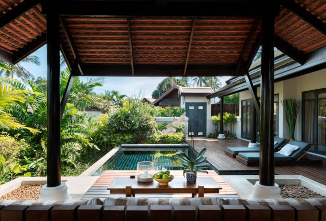 Anantara Pool Villa deck and view