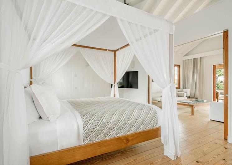 COMO Parrot Cay One Bedroom Beach House Bedroom