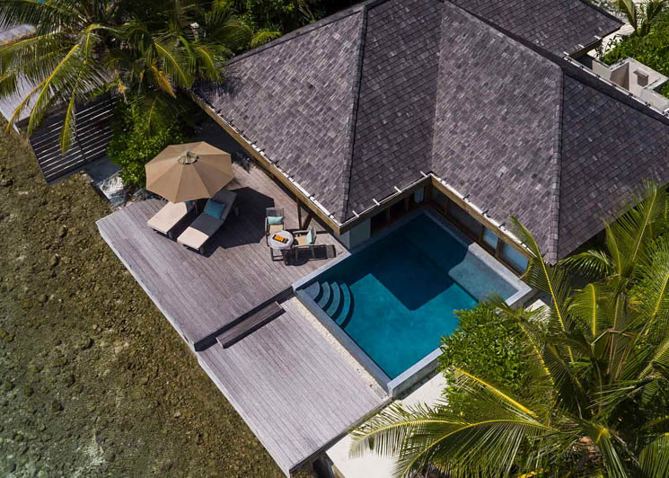 Ocean Pool Bungalow aerial