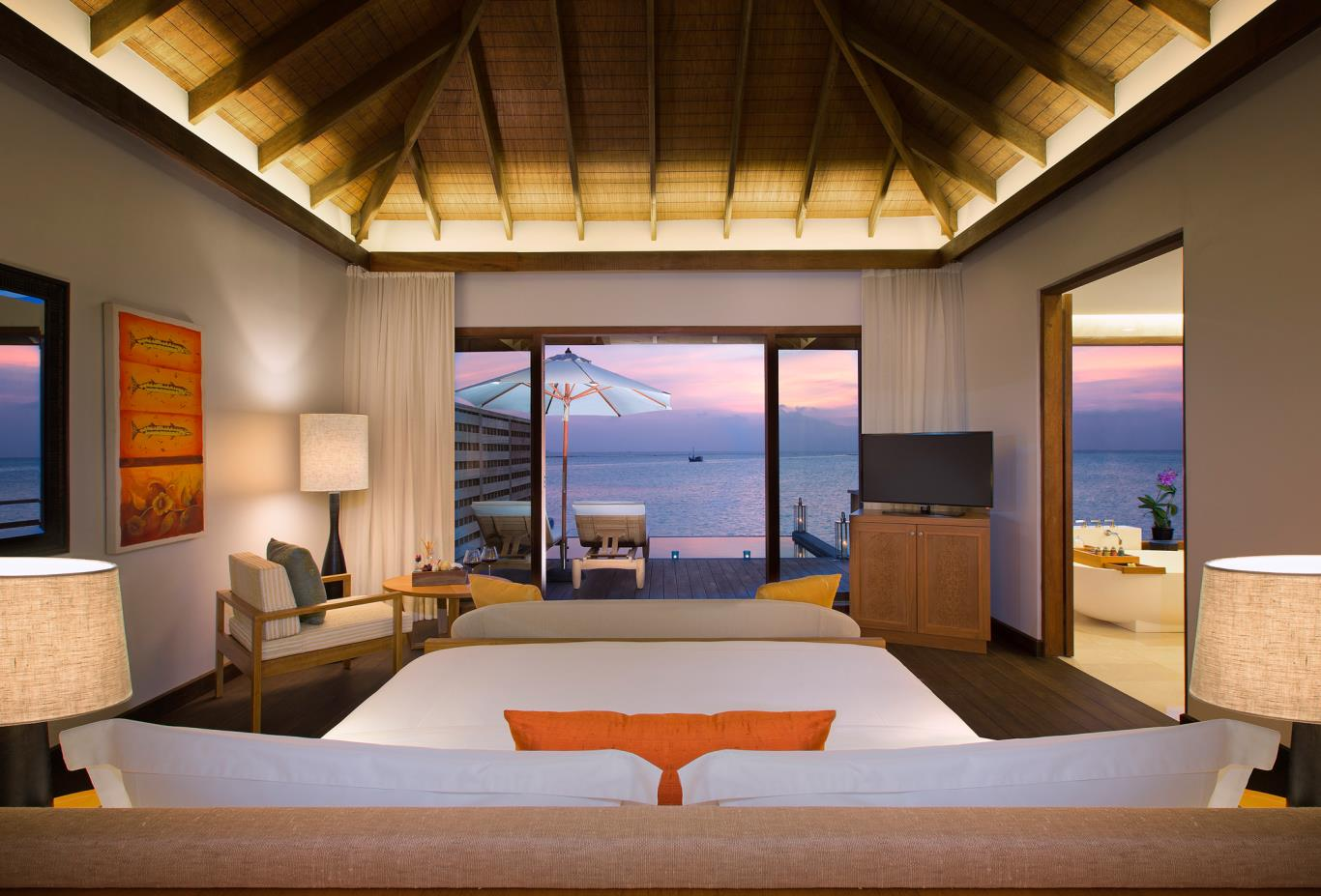 Deluxe Over Water Bungalow Bedroom