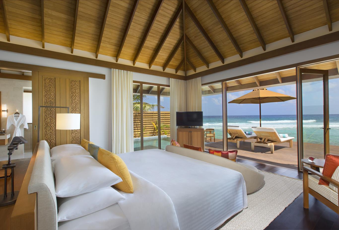 Ocean Pool Bungalow Bedroom View