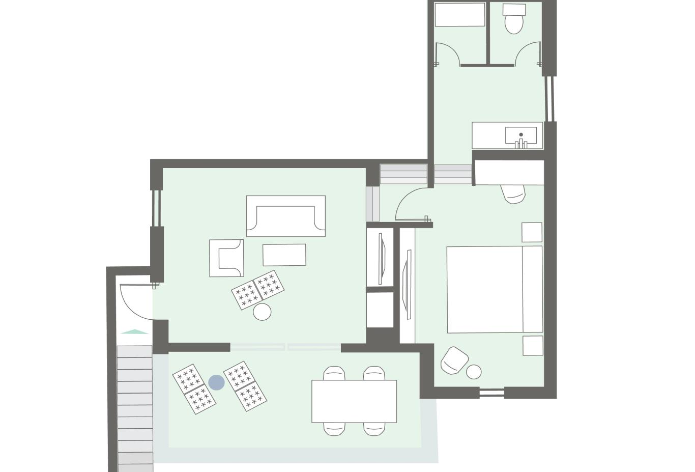 Floorplan Mykonos Suite