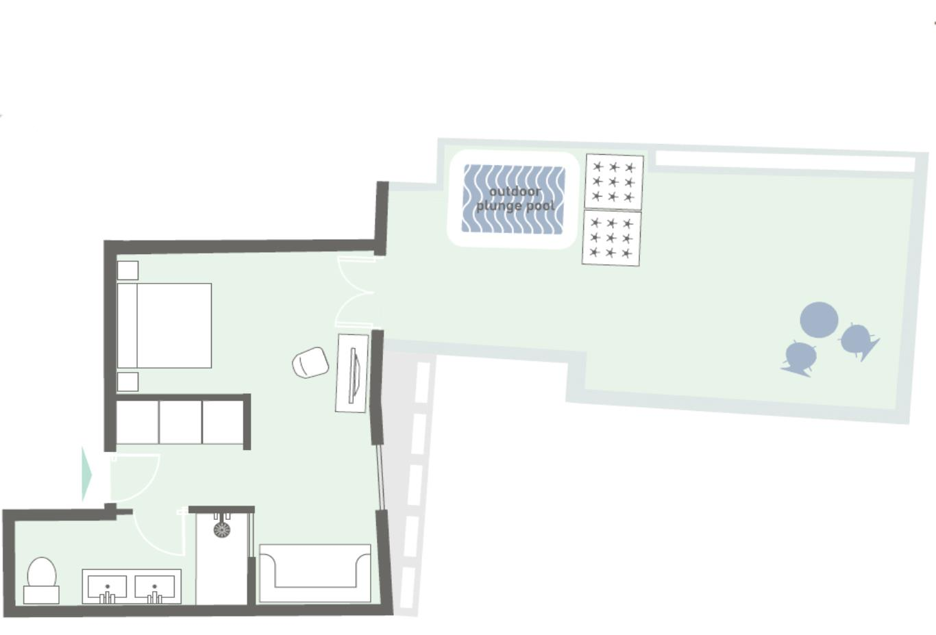 Junior-suite-with-plunge-pool floorplan example