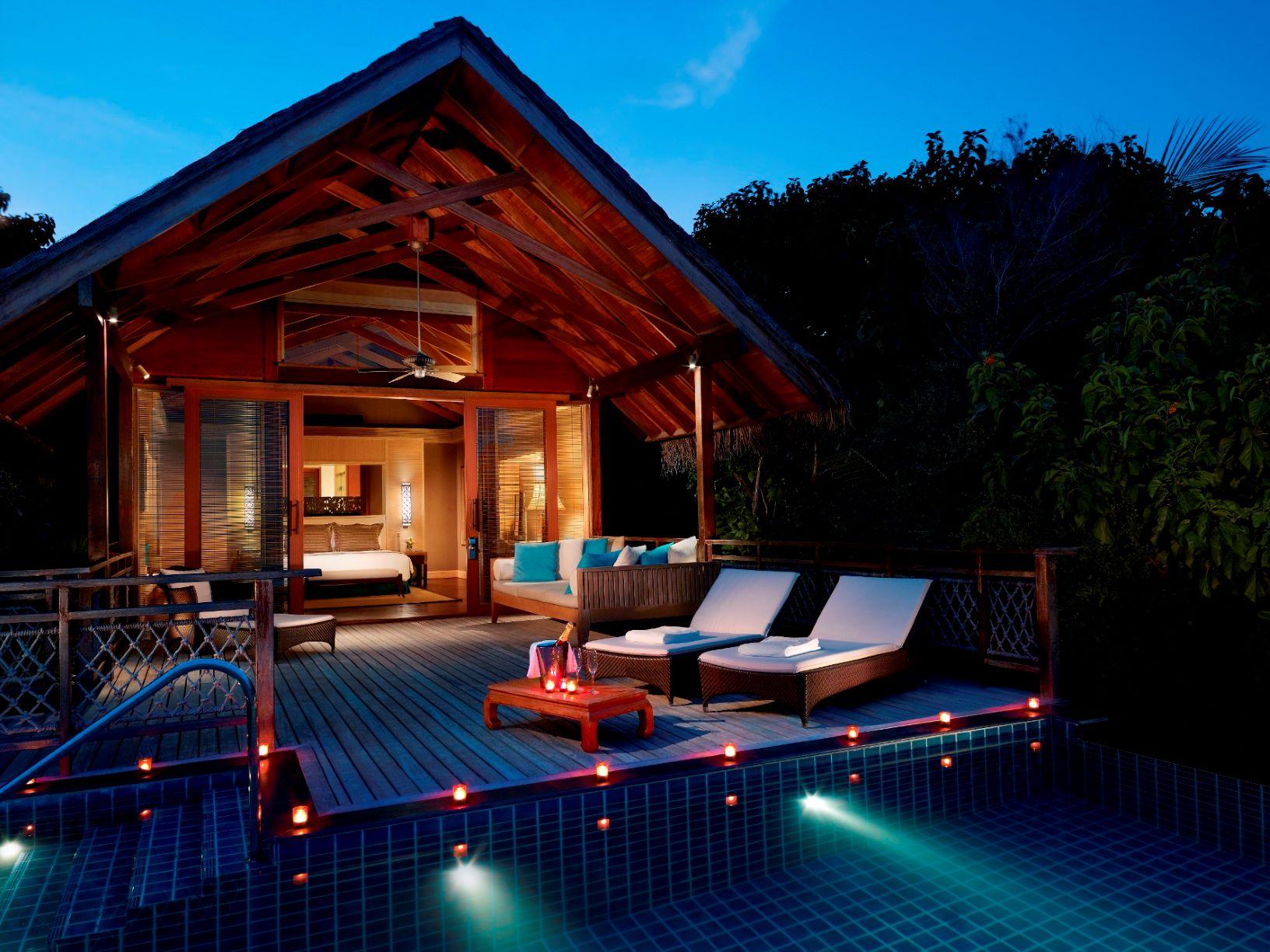 Pool Villa at dusk