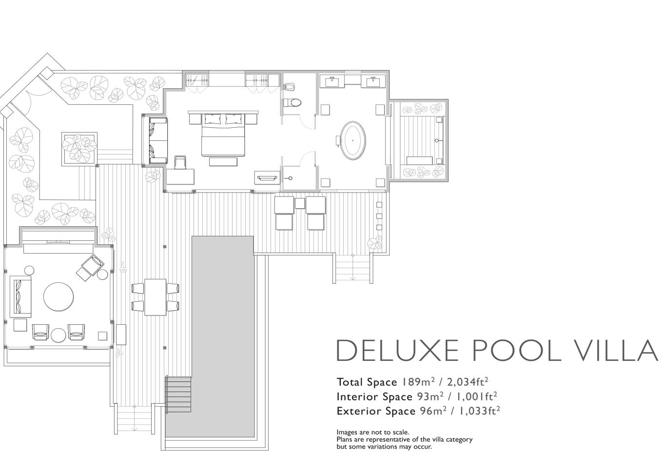 Floorplan Deluxe Pool Villa