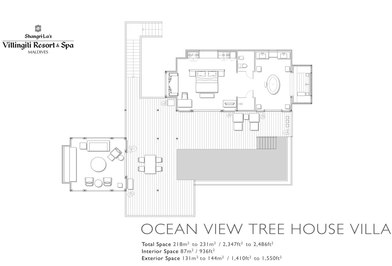 Floorplan Ocean View Tree House Villa