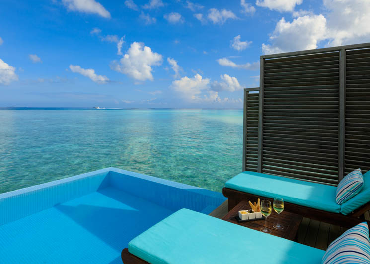 Water Bungalow pool and view