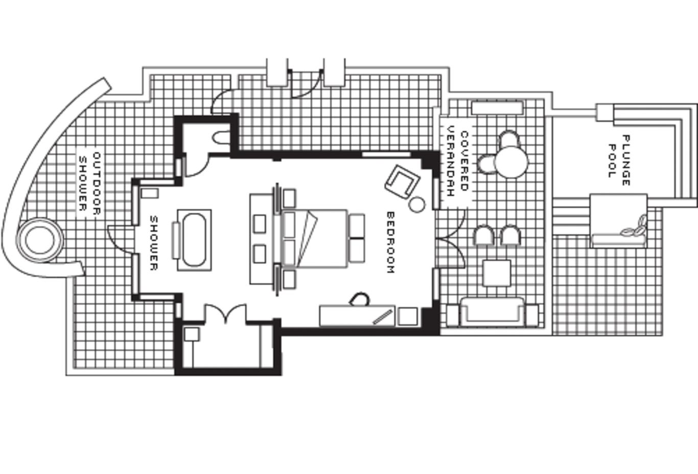 Floor plan Beach Pool Villa