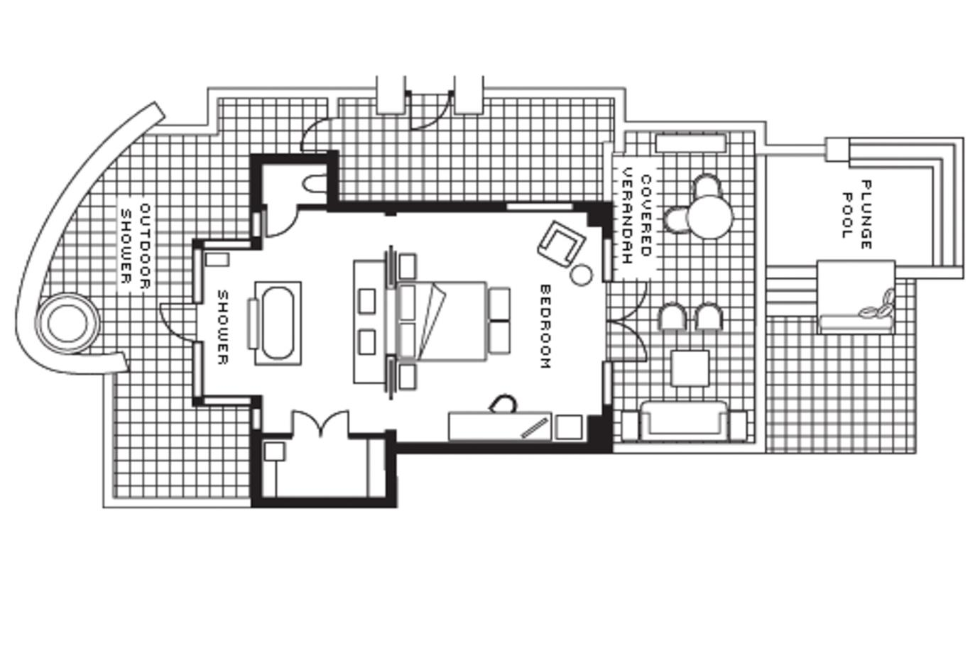 Floor plan Garden Pool Villa
