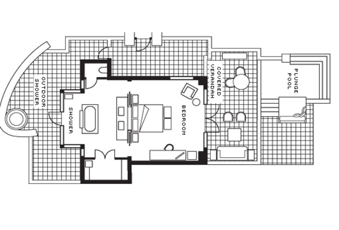 Floor plan Mangrove Pool Villa
