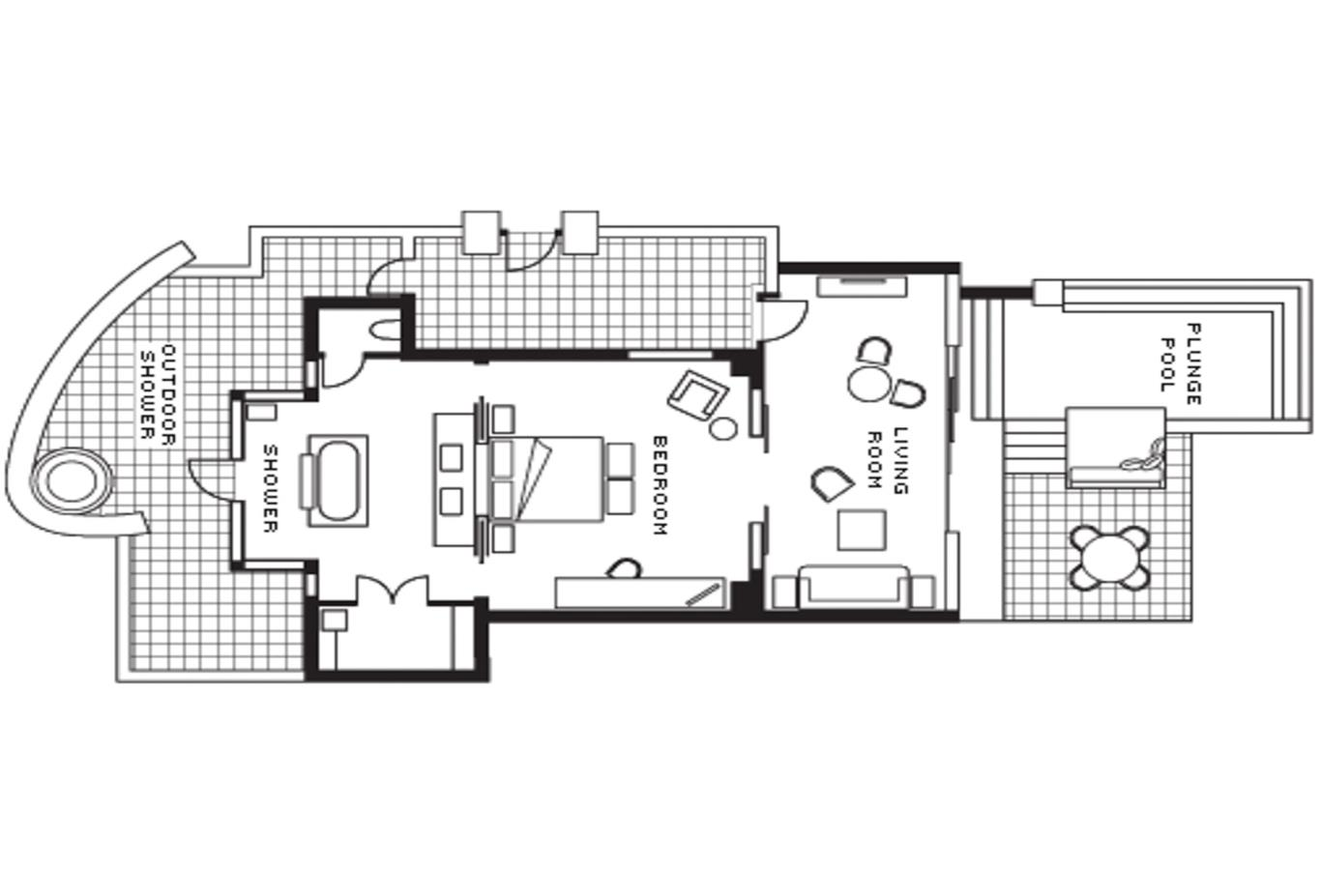 Floor plan Ocean Pool Villa