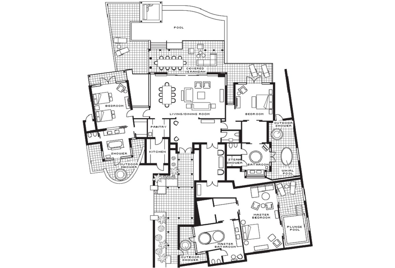 Floor plan Presidential Villa