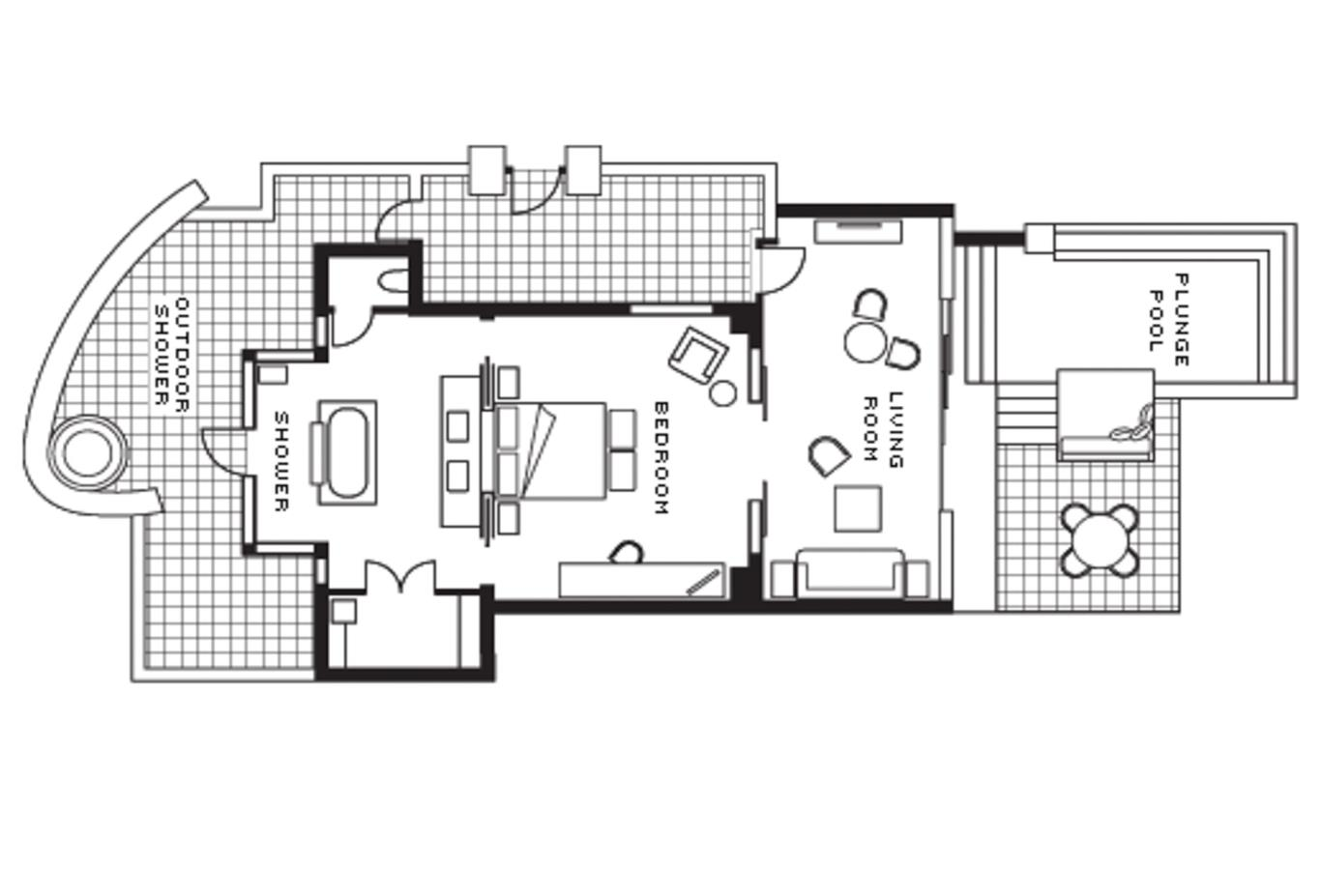 Floor plan Sanctuary Beach Pool Villa