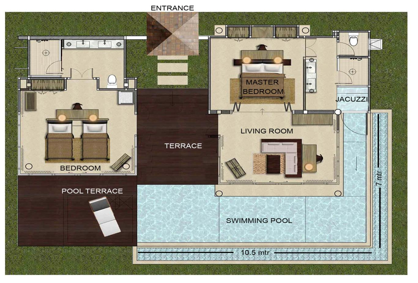 FloorPlan-Two-Bedroom-Pool-Villa