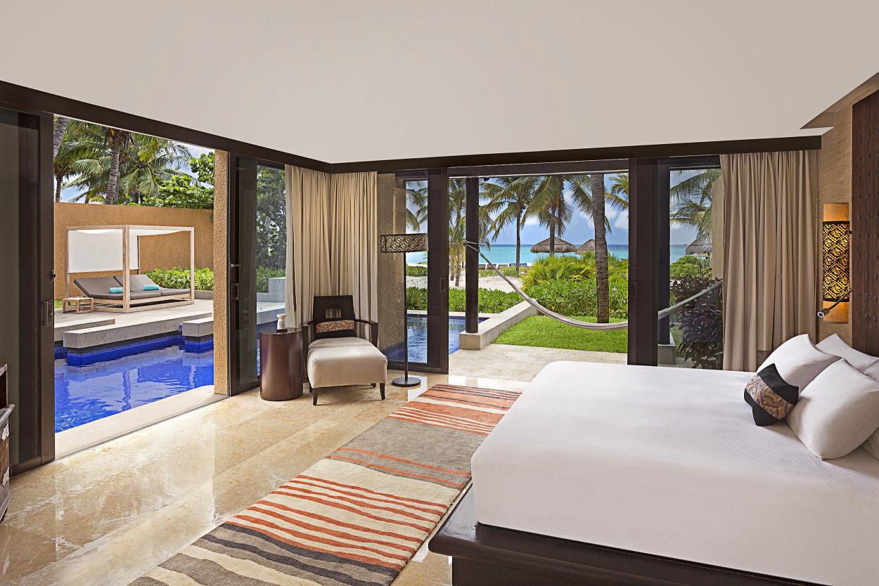 Beachfront Three Bedroom Pool Villa Master Bedroom