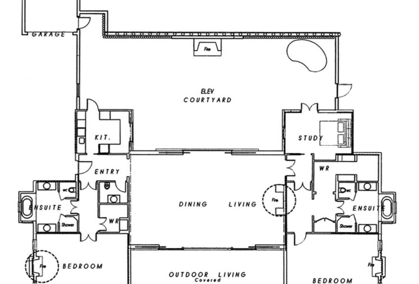 Two Bedroom Owners Cottage Floorplan