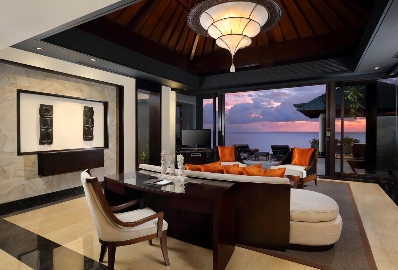 Sanctuary Cliff edge living room