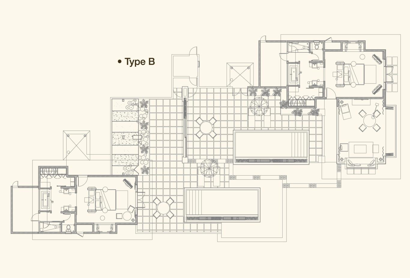 Beach Villa Floorplan B