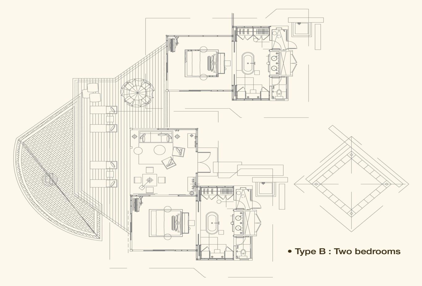 Hillside Villa Floorplan B