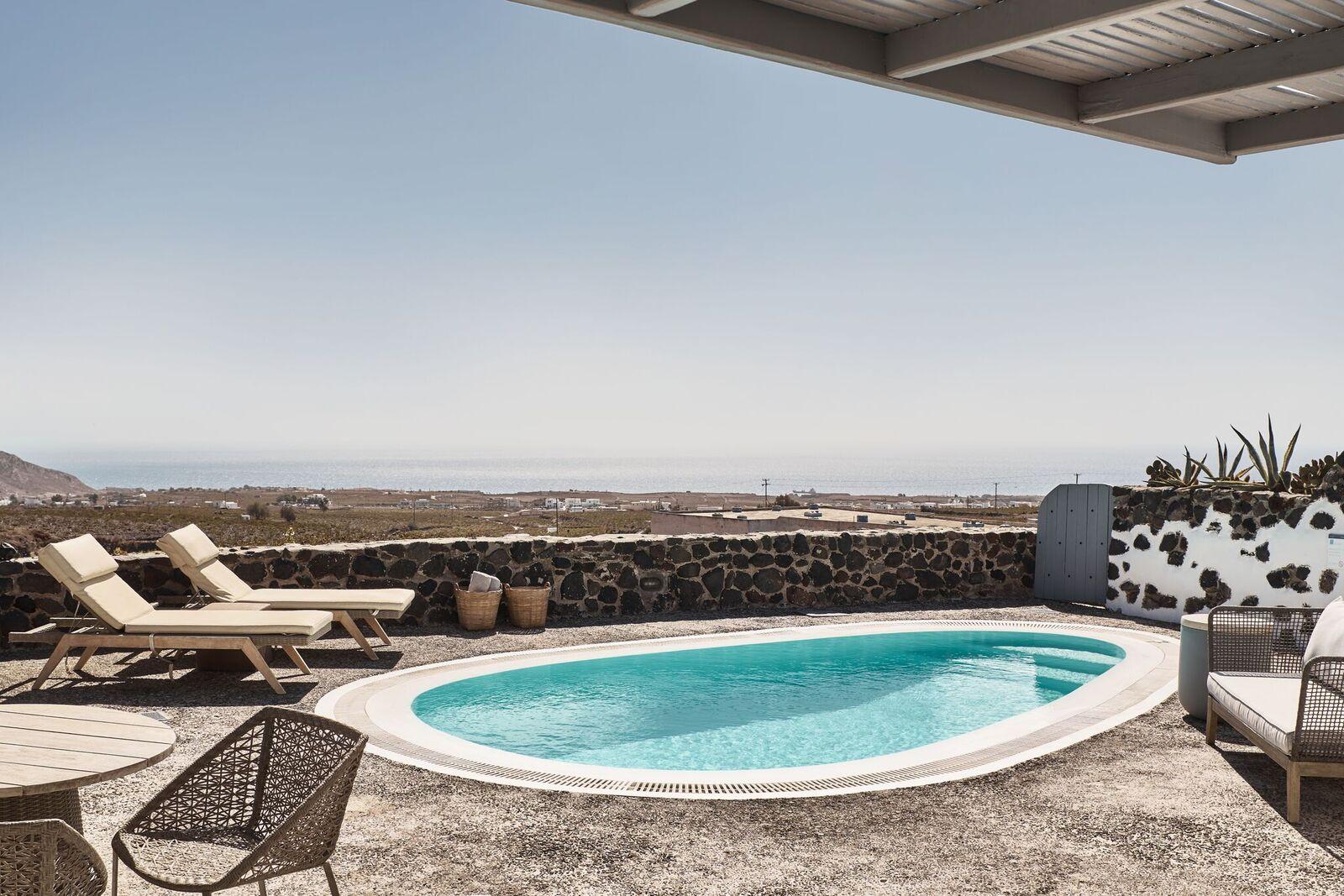Olympian villa pool
