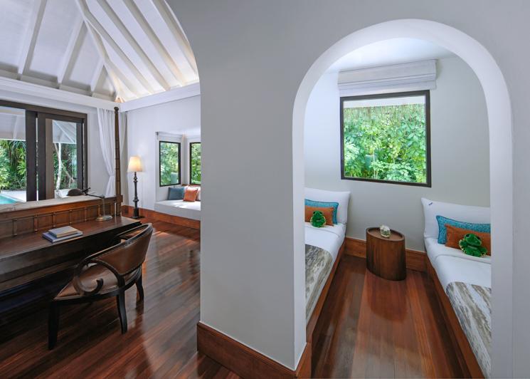 One bedroom family beach pool villa kids room