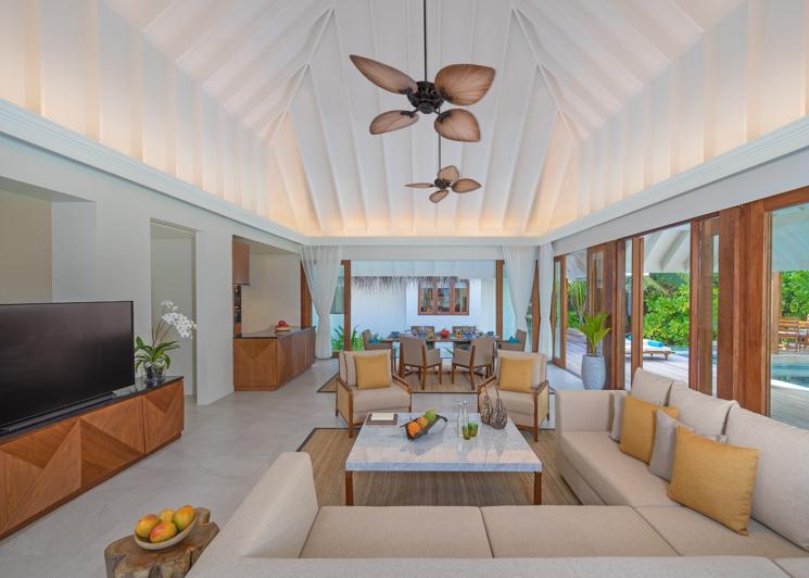 Two Bedroom Beach Pool Residence Living Room