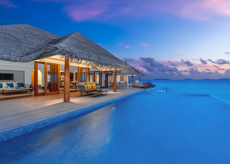 Two bedroom sunset over water pool residence