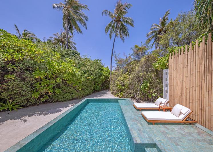 One bedroom beach pool villa swimming pool